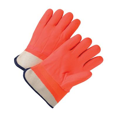 Protective Industrial Products 1017ORF PVC Dipped Glove with Foam over Jersey Lining - Rough Finish