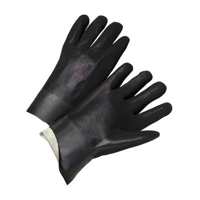 """Protective Industrial Products 1017RF PVC Dipped Glove with Interlock Liner and Rough Finish - 10"""""""