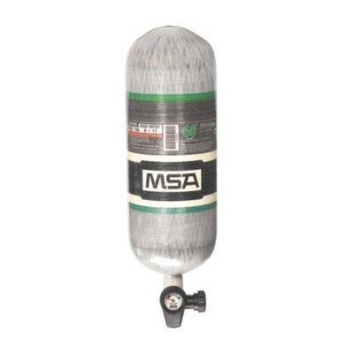 MSA 10183010 4500 PSIG, 60-Min., High-Pressure Carbon Cylinder, Threaded Connection