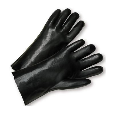 """Protective Industrial Products 1027 PVC Dipped Glove with Interlock Liner and Smooth Finish - 12"""""""