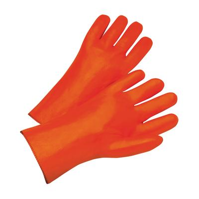 """Protective Industrial Products 1027OR PVC Dipped Glove with Foam Liner and Smooth Finish - 12"""""""