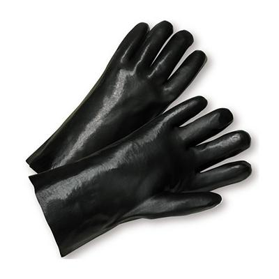 """Protective Industrial Products 1087 PVC Dipped Glove with Interlock Liner and Smooth Finish - 18"""""""
