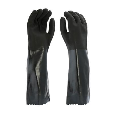 """Protective Industrial Products 1087RF PVC Dipped Glove with Interlock Liner and Rough Finish - 18"""""""