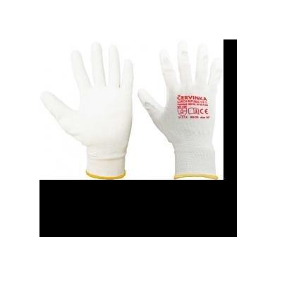 Cervinka PN8001 Polyester work protective gloves Červinka - white