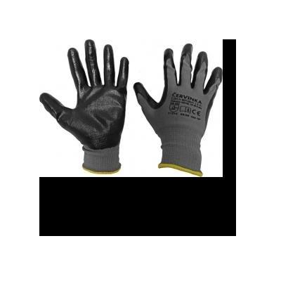 Cervinka N1594 Polyester work protective gloves Červinka - gray
