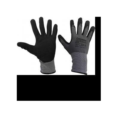Cervinka N1554 Nylon-spandex work protective gloves Červinka - gray