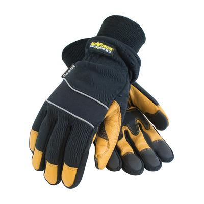 Protective Industrial Products 120-4800 Goatskin Leather Palm with Fabric Back and 3M Thinsulate® Lining - Waterproof Barrier