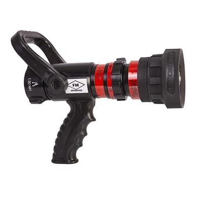 """Akron Brass 17204001 Turbojet Handline Nozzle with 1.5"""" inlet, NH threads, 30-125 GPM  at 100 PSI"""