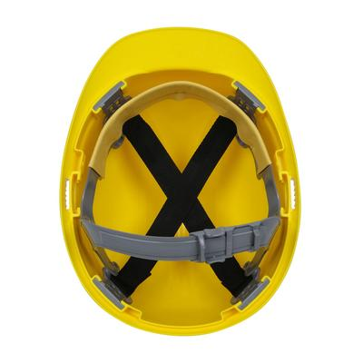 Protective Industrial Products 280-CS4200 Cap Style Hard Hat with HDPE Shell, 4-Point Polyester Suspension and Slip Ratchet Adjustment