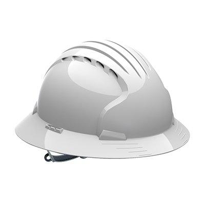 Protective Industrial Products 280-EV6141V Vented, Full Brim Hard Hat with HDPE Shell, 6-Point Polyester Suspension and Slip Ratchet Adjustment