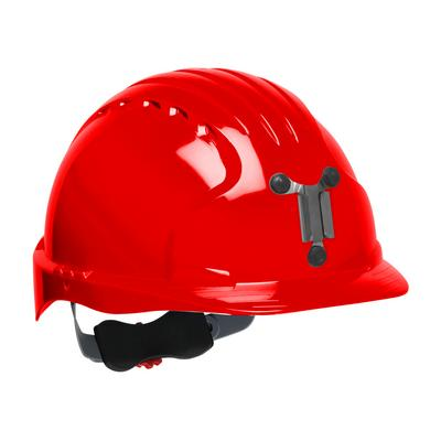 Protective Industrial Products 280-EV6151M Standard Brim Mining Hard Hat with HDPE Shell, 6-Point Polyester Suspension and Wheel Ratchet Adjustment