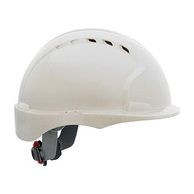 Protective Industrial Products 280-EV6151SV Vented, Short Brim Hard Hat with HDPE Shell, 6-Point Polyester Suspension and Wheel Ratchet Adjustment