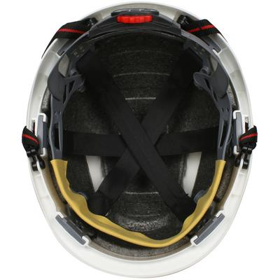 Protective Industrial Products 280-EV6151SV-CH Vented, Short Brim Safety Helmet with HDPE Shell, 4-Point Chinstrap, 6-Point Suspension and Wheel Ratchet Adjustment