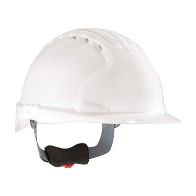 Protective Industrial Products 280-EV6151V Standard Brim, Vented Hard Hat with HDPE Shell, 6-Point Polyester Suspension and Wheel Ratchet Adjustment