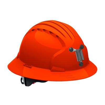 Protective Industrial Products 280-EV6161M Full Brim Mining Hard Hat with HDPE Shell, 6-Point Polyester Suspension and Wheel Ratchet Adjustment