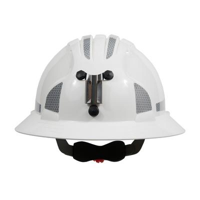 Protective Industrial Products 280-EV6161MCR2 Full Brim Mining Hard Hat with HDPE Shell, 6-Point Polyester Suspension, Wheel Ratchet Adjustment and CR2 Reflective Kit