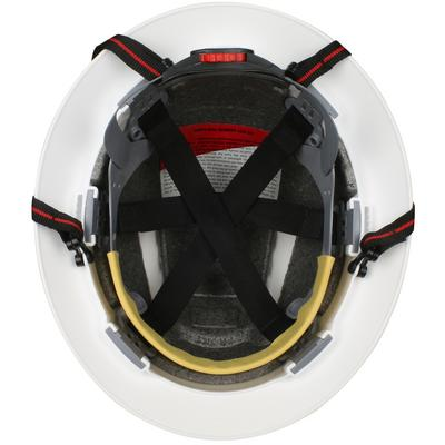 Protective Industrial Products 280-EV6161-CH Full Brim Safety Helmet with HDPE Shell, 4-Point Chinstrap, 6-Point Suspension and Wheel Ratchet Adjustment
