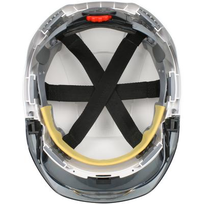 Protective Industrial Products 280-EVSV Type I, Vented Industrial Safety Helmet with Lightweight ABS Shell, Integrated ANSI Z87.1 Faceshield, 6-Point Polyester Suspension and Wheel Ratchet Adjustment