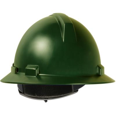 Protective Industrial Products 280-HP1041R Full Brim Hard Hat with Polycarbonate / ABS Shell, 4-Point Textile Suspension and Wheel Ratchet Adjustment