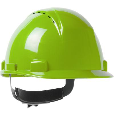 Protective Industrial Products 280-HP1141RSPV Short Brim, Vented, Cap Style Hard Hat with HDPE Shell, 4-Point Textile Suspension and Wheel Ratchet Adjustment