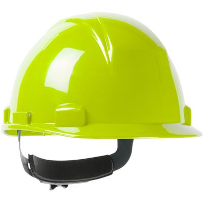 Protective Industrial Products 280-HP1142RSP Type II, Short Brim Cap Style Hard Hat with HDPE Shell, 4-Point Textile Suspension and Wheel Ratchet Adjustment