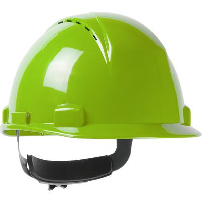 Protective Industrial Products 280-HP1142RSPV Vented, Type II, Short Brim Cap Style Hard Hat with HDPE Shell, 4-Point Textile Suspension and Wheel Ratchet Adjustment