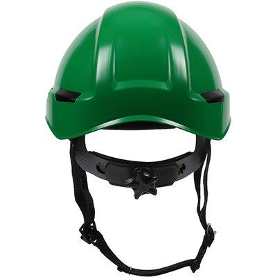 Protective Industrial Products 280-HP142R Industrial Climbing Helmet with Polycarbonate / ABS Shell, Hi-Density Foam Impact Liner, Nylon Suspension, Wheel Ratchet Adjustment and 4-Point Chin Strap