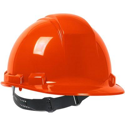 Protective Industrial Products 280-HP241 Cap Style Hard Hat with HDPE Shell, 4-Point Textile Suspension and Pin-Lock Adjustment