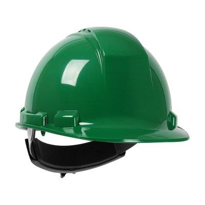 Protective Industrial Products 280-HP241R Cap Style Hard Hat with HDPE Shell, 4-Point Textile Suspension and Wheel Ratchet Adjustment