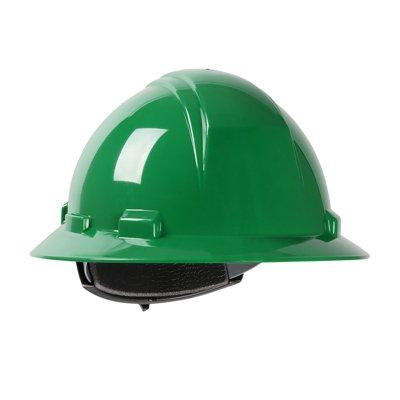 Protective Industrial Products 280-HP641R Full Brim Hard Hat with HDPE Shell, 4-Point Textile Suspension and Wheel Ratchet Adjustment
