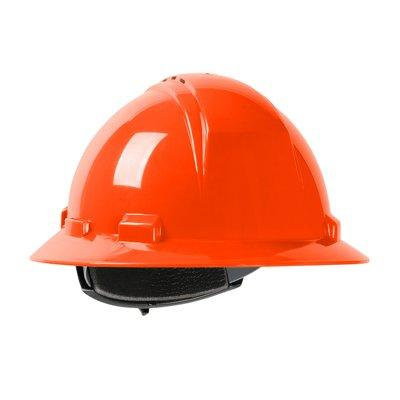 Protective Industrial Products 280-HP641RV Vented, Full Brim Hard Hat with HDPE Shell, 4-Point Textile Suspension and Wheel Ratchet Adjustment