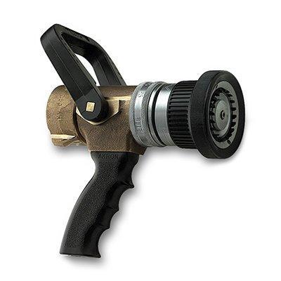 Akron Brass 3721 1  1/2'' Industrial Turbojet Fire Hose Nozzle with Pistol Grip