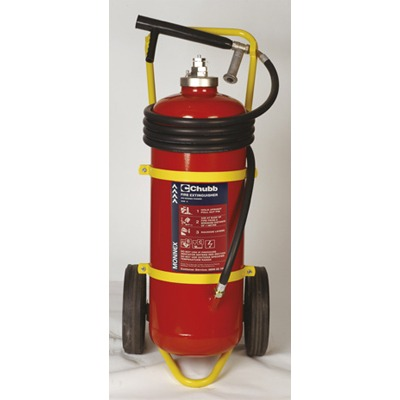 Chubb 50kg Monnex Powder Mobile Fire Trolley