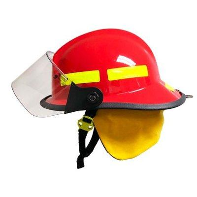 """MSA 660CFSR Red, 4"""" Standard Faceshield, Standard Flannel Liner, Nomex Earlap, Nomex Chinstrap W/ Quick Release & Postman Slide, Lime/Yellow Reflexite, Bar"""