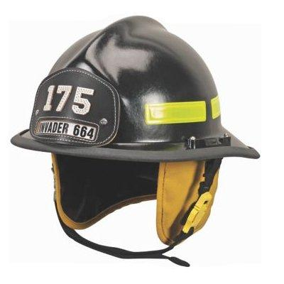 MSA 664DSB Cairns 664 W/ Defender, Black, Standard Flannel Liner, Nomex Earlap, Nomex Chinstrap W/ Quick Release & Postman Slide, Lime/Yellow Reflexite, Bar