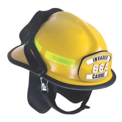 MSA 664DSY Cairns 664 W/ Defender, Yellow, Standard Flannel Liner, Nomex Earlap, Nomex Chinstrap W/ Quick Release & Postman Slide, Lime/Yellow Reflexite, Bar, Yellow