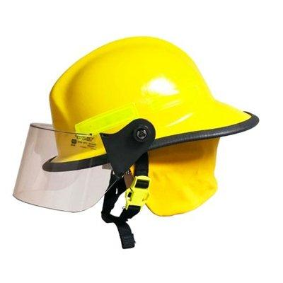 """MSA 664FSY Cairns 664, Yellow, 4"""" Standard Faceshield, Standard Flannel Liner, Nomex Earlap, Nomex Chinstrap W/ Quick Release & Postman Slide, Lime/Yellow Reflexite, Bar"""