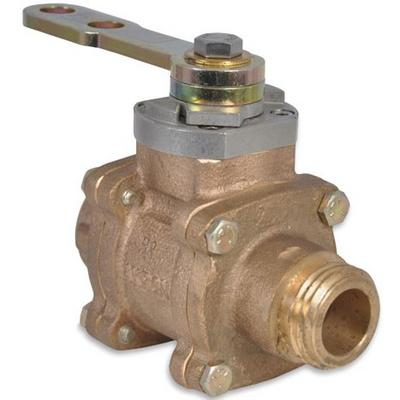 """Akron Brass 8910 1"""" Swing-Out Valve (Body Only) with polymer ball"""