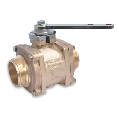 """Akron Brass 8935 31/2"""" Swing-Out Valve (Body Only) with polymer ball"""