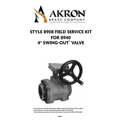 """Akron Brass 8908 Field Service Kit with Composite Ball for 4"""" Swing-Out Valves"""