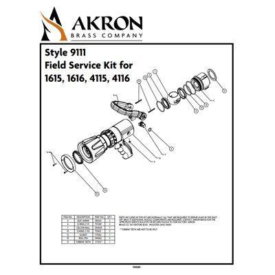 Akron Brass 9111 Field Service Kit for Style 1615, 1616, 4115, 4116