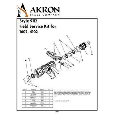 Akron Brass 9112 Field Service Kit for Style 1602, 4102