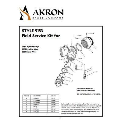 Akron Brass 9153 Field Service Kit for Style 2580, 2581, 2681