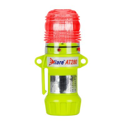 """Protective Industrial Products 939-AT280-R 6"""" Safety & Emergency Beacon - Flashing / Steady-On Red"""