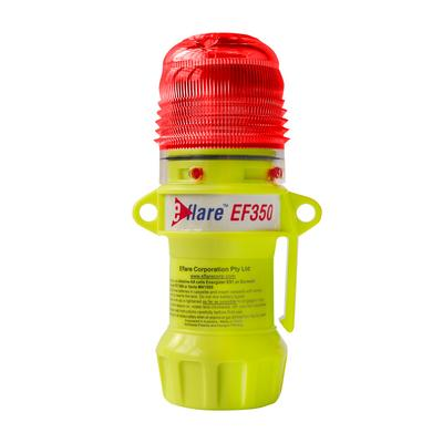 """Protective Industrial Products 939-EF350-R 6"""" Safety & Emergency Beacon - Flashing Red"""