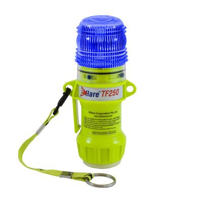 """Protective Industrial Products 939-TF250-B-ASY 6"""" Safety & Emergency Beacon with Steady-On Worklight and Magnetic Base - Flashing Blue"""