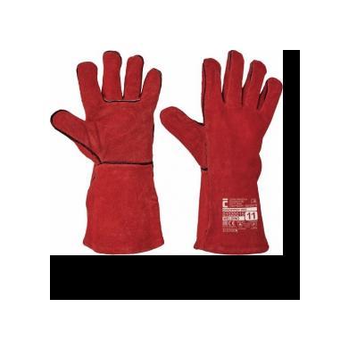Cervinka 1020015 Red full-leather welding gloves
