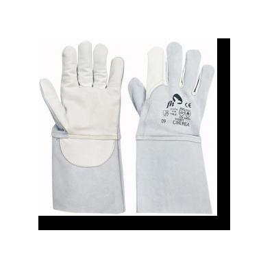 Cervinka 01020071 White full-leather welding gloves