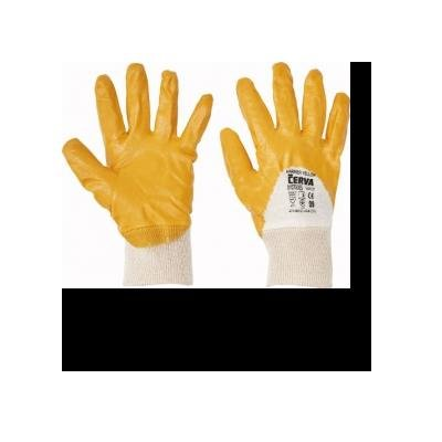 Cervinka 1070005 Protective yellow dipped gloves
