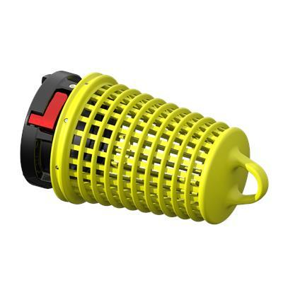 """Task force tips A02SP-Y JUMBO BARREL STRAINER 4.0"""" STORZ YELLOW"""